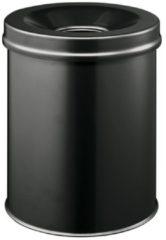 Zwarte Merkloos / Sans marque Vlamdovende Afvalbak 15 L