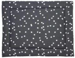 Grijze Briljant Baby boxkleed spots iron 80x100 cm