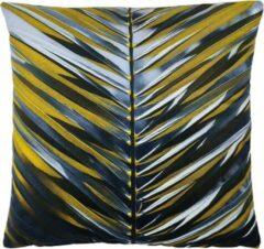 Decolenti – Palm Leaves – Sierkussenhoes – Geel - Blauw - Zwart - 45cm x 45cm