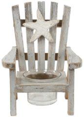 Massamarkt Waxinelichthouder stoel hout