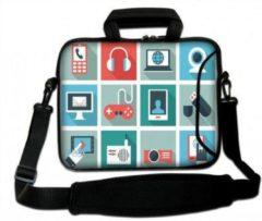 Blauwe False Sleevy 15.6 inch laptoptas multimedia design