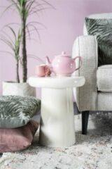 Creme witte By-Boo Bijzettafel 'Glaze' 34cm, kleur Crème