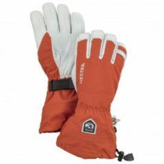Hestra - Army Leather Heli Ski 5 Finger - Handschoenen maat 7, rood/grijs