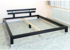 Futonbett Massivholzbett schwarz 160 x 200cm Cats Collection schwarz / silber
