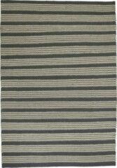 OSTA Hygge – Vloerkleed – Tapijt – geweven – wol – eco – duurzaam - modern - Scandinavisch - Beige/Grijs Streep - 70x140