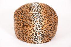 Sitzkissen Hocker Pouf Tierfelloptik Gepard Ø47/34 cm Linke Licardo Gepardfell