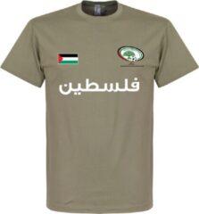 Kaki Retake Palestina Football T-Shirt - Khaki - XXL