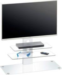 Maja TV-Rack Drau, ca. 90x95x40 cm, weiß/weißglas