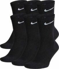 Nike Everyday Cushion Crew Sokken (regular) - Maat 42-46 - Unisex - zwart/wit