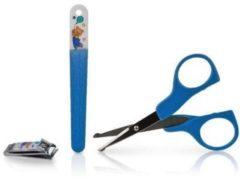 Blauwe Nûby Verzorgingsset voor nagels baby's : schaar, vijl en knijpertje