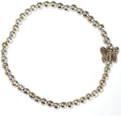 Een Wens Zilverkleurige Armband Vlinder