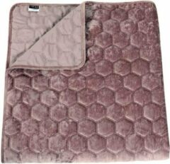 Paarse Unique Living Peggy - Bedsprei - Eenpersoons - 170x220 cm - Purple