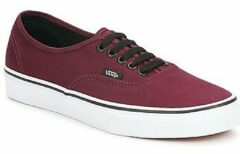 Bordeauxrode Lage Sneakers Vans AUTHENTIC