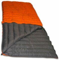 Oranje LOWLAND OUTDOOR® Donzen slaapzak - Super compact blanket - 210 x 80 cm - 590gr +8°C