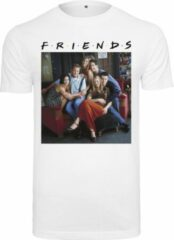 Witte Merchcode Serie Friends Group Photo Serie - Friends - Sitcom - TV - Urban - Casual Heren T-shirt Maat S