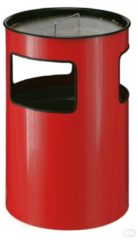 Rode Metalen As-Afvalbak 110 liter, Rood
