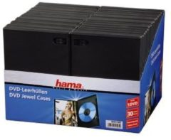 Hama DVD-hoes 1 CD/DVD/Blu-Ray Kunststof Zwart 30 stuks (b x h x d) 14 x 191 x 134 mm
