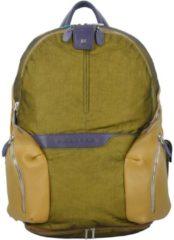 Coleos Rucksack Leder 36 cm Laptopfach Piquadro yellow
