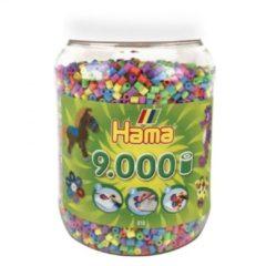Strijkkralen Hama In Pot 9000 Stuks Pastel (2672506)