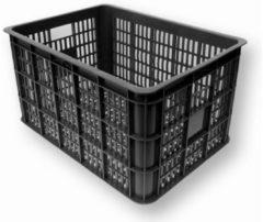 Zwarte Creotime Basil Crate Large - Fietskrat - 50 Liter - Zwart