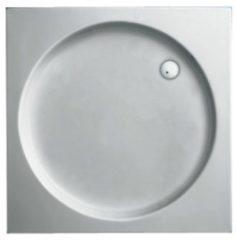 Plieger Luxury kunststof douchebak acryl vierkant met ronde inzet 80x80x9cm wit 110020 0940850