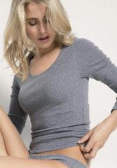 Hessnatur Damen Langarm-Shirt aus Bio-Baumwolle – grau – Größe 46