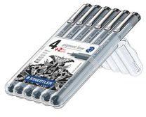 Viltstiften Staedtler Pigment Liner 308, geassorteerde punten - Etui van 6