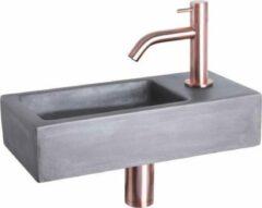 Differnz fonteinset 38x18x9cm hura beton krom rose koper 38.005.15