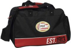 PSV Eindhoven Sporttas psv zwart/rood: 45x30x28 cm