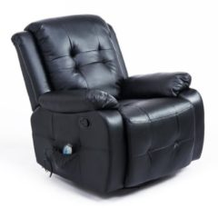 HOMCOM Massagesessel mit Wärmefunktion TV Sessel mit Fernbedienung TV Sessel Fernsehsessel Relaxsessel Massagestuhl