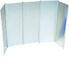 Zilveren Bo Camp Bo-Camp - Kookwindscherm - 5-Delig - Universeel - 26 cm hoog