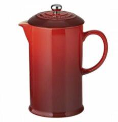LE CREUSET - Aardewerk - Koffiepot met pers Rood 0,8L