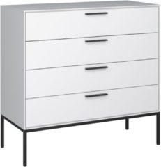 DS Style Ladekast Slimline 87 cm hoog in wit met zwart