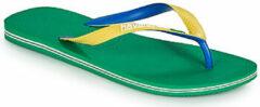 Havaianas Slippers - Maat 43/44 - Unisex - groen - geel - blauw