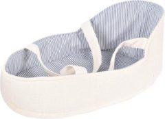 Bonikka Draagwiegje Babypop 18 X 28 Cm Polyester Wit/blauw