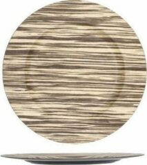 Cosy @ Home PLATE MULTI-COLOR ROUND SYNTHETIC 33X33XH2 WOOD LOOK