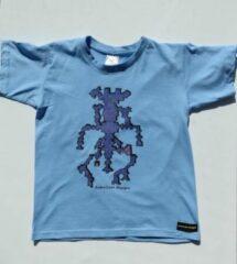 B & C Anha'Lore Designs - Alien - Kinder t-shirt - Lichtblauw - 7/8j
