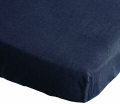 Blauwe BINK Bedding Hoeslaken Bo Jeans 70 x 150 cm