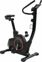 Zwarte Merkloos / Sans marque Fitness Fiets Hometrainer Magnetisch met Hartslagmeter en Tablethouder - Home trainer - Airbike - Cross trainer