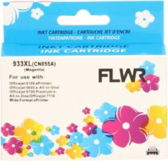 FLWR - Inktcartridge / 933XL / Magenta - Geschikt voor HP