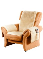 Naturelkleurige Scheerwollen meubelbeschermer K & N Schurwolle naturel