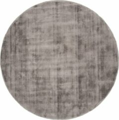 Veercarpets Vloerkleed Viscose - Rond ø150 cm - Dark Grey - Grijs
