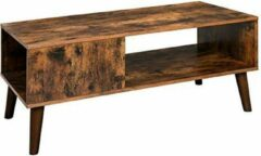 Trend24 - Salontafel - Salontafel industrieel - Tv meubel industrieel - Salontafel hout - 100 x 50 x 45 cm - Rustiek bruin
