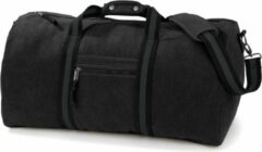 Bruine Quadra Canvas weekendtas/reistas zwart 45 liter - Vintage reistassen/weekendtassen - Tassen voor dames/heren/volwassenen