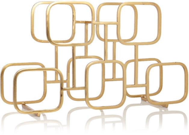 Afbeelding van Gouden XLBoom Gavin wijnrek van staal 5 flessen
