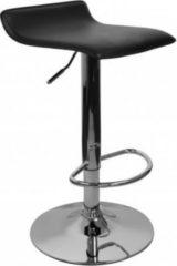 AMSTYLE Barhocker IBIZA Hocker Bezug Kunstleder schwarz höhenverstellbar Design Barstuhl ohne Rückenlehne Chrom 110kg