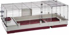 Rode Ferplast konijnenkooi krolik 140 wit / bordeaux 142x60x50 cm