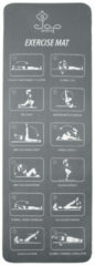Jap Sports Sportmat Met Oefeningen - Trainings Mat - Fitnessmat - Yogamat - Sport Matje - Grijs