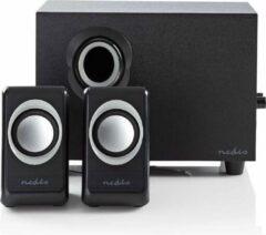 Nedis Stereo 2.1 Speakersysteem met subwoofer (33W RMS, Zwart)