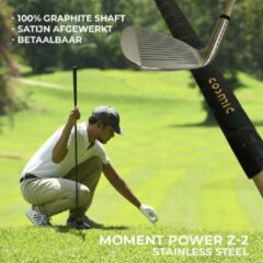 Gouden Cosmic moment power Z2L - Ultra lightweight hi-modulus graphite - Betaalbare golfclubs - Complete golfclubset - Met golftas!